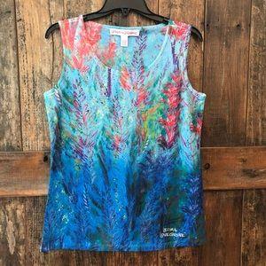 Leoma Lovegrove, S, Blue Ocean Art Tank Top